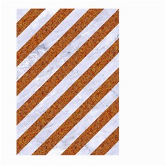 Stripes3 White Marble & Rusted Metal (r) Large Garden Flag (two Sides) by trendistuff