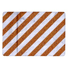 Stripes3 White Marble & Rusted Metal (r) Samsung Galaxy Tab 10 1  P7500 Flip Case by trendistuff