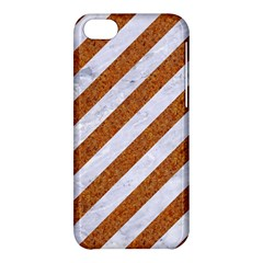 Stripes3 White Marble & Rusted Metal (r) Apple Iphone 5c Hardshell Case by trendistuff