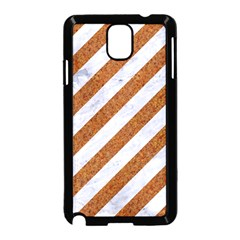 Stripes3 White Marble & Rusted Metal (r) Samsung Galaxy Note 3 Neo Hardshell Case (black) by trendistuff
