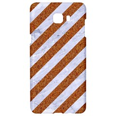 Stripes3 White Marble & Rusted Metal (r) Samsung C9 Pro Hardshell Case  by trendistuff