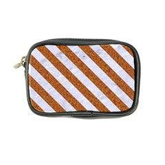 Stripes3 White Marble & Rusted Metal Coin Purse by trendistuff