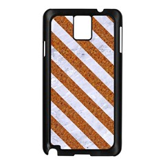 Stripes3 White Marble & Rusted Metal Samsung Galaxy Note 3 N9005 Case (black) by trendistuff