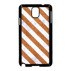 Stripes3 White Marble & Rusted Metal Samsung Galaxy Note 3 Neo Hardshell Case (black) by trendistuff