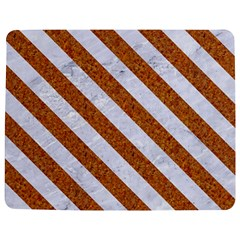Stripes3 White Marble & Rusted Metal Jigsaw Puzzle Photo Stand (rectangular) by trendistuff