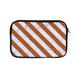 Stripes3 White Marble & Rusted Metal Apple Macbook Pro 13  Zipper Case by trendistuff