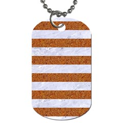 Stripes2white Marble & Rusted Metal Dog Tag (two Sides) by trendistuff