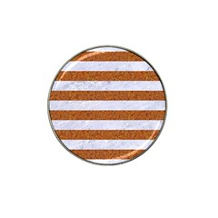 Stripes2white Marble & Rusted Metal Hat Clip Ball Marker by trendistuff