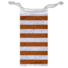 Stripes2white Marble & Rusted Metal Jewelry Bag by trendistuff