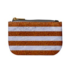 Stripes2white Marble & Rusted Metal Mini Coin Purses by trendistuff