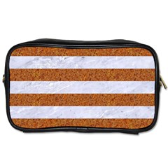 Stripes2white Marble & Rusted Metal Toiletries Bags 2 Side by trendistuff