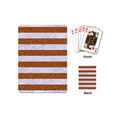 Stripes2white Marble & Rusted Metal Playing Cards (mini)  by trendistuff