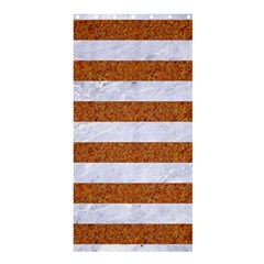 Stripes2white Marble & Rusted Metal Shower Curtain 36  X 72  (stall)  by trendistuff