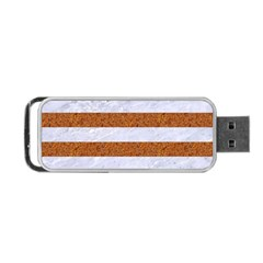 Stripes2white Marble & Rusted Metal Portable Usb Flash (two Sides) by trendistuff