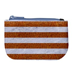 Stripes2white Marble & Rusted Metal Large Coin Purse by trendistuff