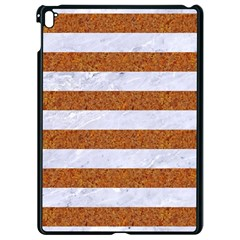 Stripes2white Marble & Rusted Metal Apple Ipad Pro 9 7   Black Seamless Case by trendistuff
