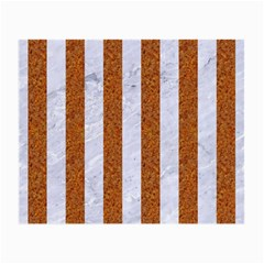 Stripes1 White Marble & Rusted Metal Small Glasses Cloth by trendistuff