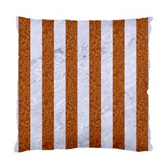 Stripes1 White Marble & Rusted Metal Standard Cushion Case (two Sides) by trendistuff