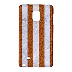 Stripes1 White Marble & Rusted Metal Galaxy Note Edge by trendistuff