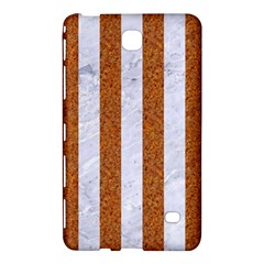 Stripes1 White Marble & Rusted Metal Samsung Galaxy Tab 4 (7 ) Hardshell Case  by trendistuff