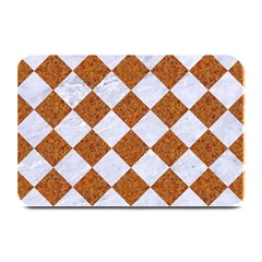 Square2 White Marble & Rusted Metal Plate Mats by trendistuff