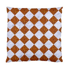 Square2 White Marble & Rusted Metal Standard Cushion Case (two Sides) by trendistuff