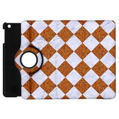 Square2 White Marble & Rusted Metal Apple Ipad Mini Flip 360 Case by trendistuff