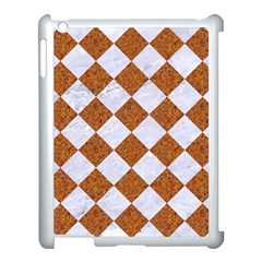 Square2 White Marble & Rusted Metal Apple Ipad 3/4 Case (white) by trendistuff