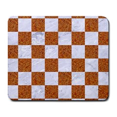 Square1 White Marble & Rusted Metal Large Mousepads by trendistuff