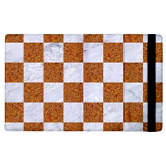 Square1 White Marble & Rusted Metal Apple Ipad 2 Flip Case by trendistuff