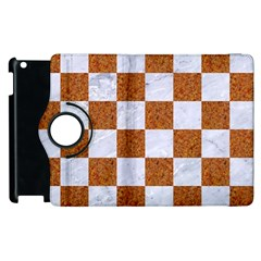 Square1 White Marble & Rusted Metal Apple Ipad 2 Flip 360 Case by trendistuff