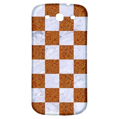 Square1 White Marble & Rusted Metal Samsung Galaxy S3 S Iii Classic Hardshell Back Case by trendistuff