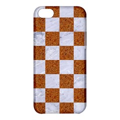 Square1 White Marble & Rusted Metal Apple Iphone 5c Hardshell Case by trendistuff