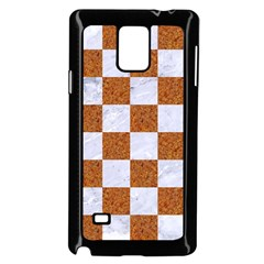 Square1 White Marble & Rusted Metal Samsung Galaxy Note 4 Case (black) by trendistuff