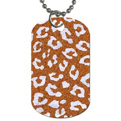 Skin5 White Marble & Rusted Metal (r) Dog Tag (two Sides) by trendistuff