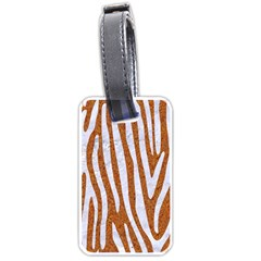 Skin4 White Marble & Rusted Metal (r) Luggage Tags (one Side)  by trendistuff