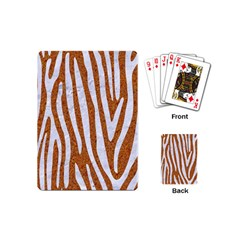 Skin4 White Marble & Rusted Metal (r) Playing Cards (mini)  by trendistuff
