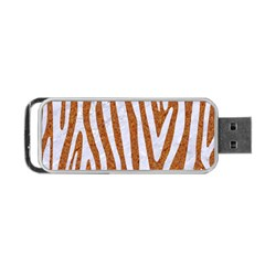 Skin4 White Marble & Rusted Metal (r) Portable Usb Flash (one Side) by trendistuff