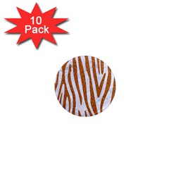 Skin4 White Marble & Rusted Metal 1  Mini Magnet (10 Pack)  by trendistuff