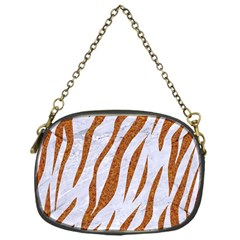 Skin3 White Marble & Rusted Metal (r) Chain Purses (one Side)  by trendistuff