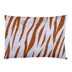 Skin3 White Marble & Rusted Metal (r) Pillow Case by trendistuff
