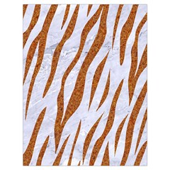 Skin3 White Marble & Rusted Metal (r) Drawstring Bag (large) by trendistuff