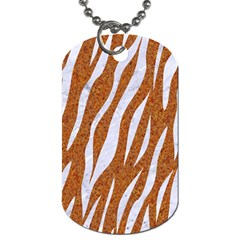 Skin3 White Marble & Rusted Metal Dog Tag (two Sides) by trendistuff