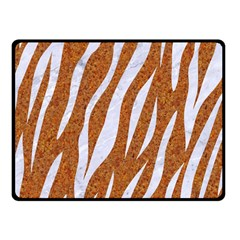Skin3 White Marble & Rusted Metal Fleece Blanket (small) by trendistuff
