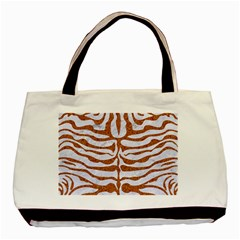 Skin2 White Marble & Rusted Metal (r) Basic Tote Bag (two Sides) by trendistuff