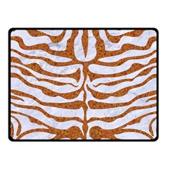 Skin2 White Marble & Rusted Metal (r) Fleece Blanket (small) by trendistuff