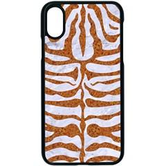 Skin2 White Marble & Rusted Metal (r) Apple Iphone X Seamless Case (black) by trendistuff