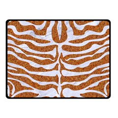 Skin2 White Marble & Rusted Metal Fleece Blanket (small) by trendistuff
