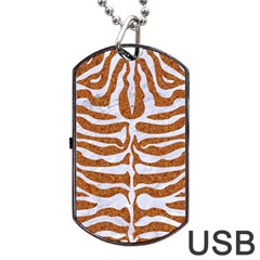 Skin2 White Marble & Rusted Metal Dog Tag Usb Flash (two Sides) by trendistuff