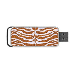 Skin2 White Marble & Rusted Metal Portable Usb Flash (one Side) by trendistuff
